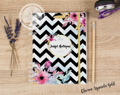Kit Planner Personalizado 2020/2021 Chevron Aquarela Gold