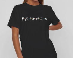 CAMISETA VESTIDO (T-SHIRT DRESS) FRIENDS-VARIAS CORES