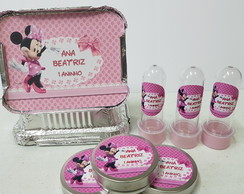 Kit 30 Tubete 30 Latinha 30 Marmitinha - Minnie Rosa