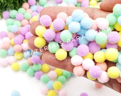 Pompom 10 mm candy color - 100 unidades