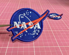 PATCH BORDADO NASA TERMOCOLANTE - MÉDIO - 6cm