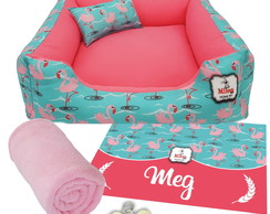 Kit 5 pçs Personalizado Cama Pet 70x70 - FLAMINGOS