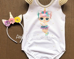 Body / collant da lol Unicornio bordado luxo