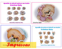 Apostila De Pintura Infantil Em Tecido Ursinhos Baby No Elo7