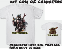 Camiseta kit com 02 The Mandalorian The child and The father