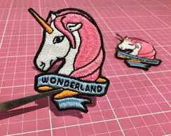 PATCH BORDADO UNICÓRNIO WONDERLAND TERMOCOLANTE