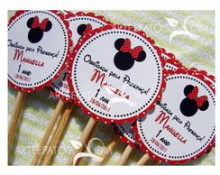 Tag Personalizada Scallop - Minnie