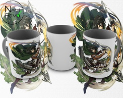 Caneca Attack On Titan (anime): Modelo 12
