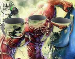 Caneca Attack On Titan (anime): Power Time