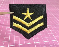 PATCH BORDADO MILITAR TERMOCOLANTE