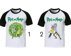 camiseta Rick & Morty raglan