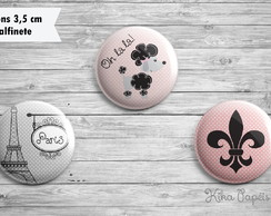 Trio Bottons Paris 3,5 cm
