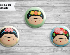 Trio Bottons Frida Kahlo 3,5 cm
