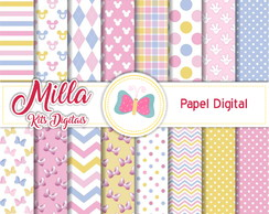 Papel Digital Minnie Baby Rosa 1