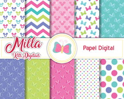 Papel Digital Minnie Rosa 1