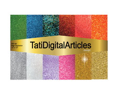 Papel Digital Glitter