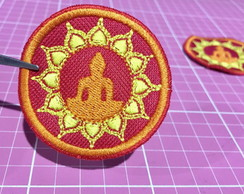 PATCH BORDADO BUDA TERMOCOLANTE