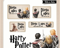 100 Etiquetas Escolares Harry Potter