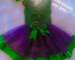 Fantasia do Hulk com saia tutu