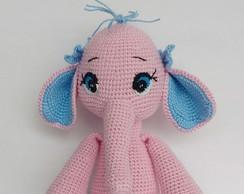 Elefante Nina amigurumi no Elo7 | Crochetados por Angela Witt (D906DC) | 194x244