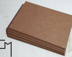 Kit 20 Placas MDF A4 Cru 3mm Artesanato