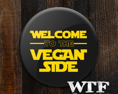 Botton / Broche Welcome to the vegan side