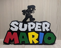 Placa decorativa Super Mario 19 x 25cm