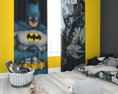 Cortina do Batman com Nome Personalizado - 1,40m x 1,80m