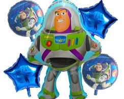 Buzz lightyear - Balão metalizado buzz Kit c/ 5