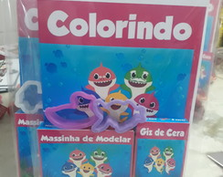 kit de colorir + massinha Baby Shark
