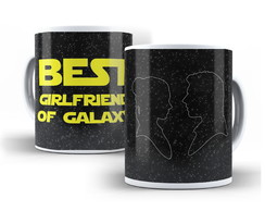 Caneca Star Wars - The Best Girlfriend of Galaxy