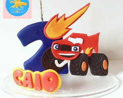Vela Tematica Aniversario Blaze Monster Machine Biscuit