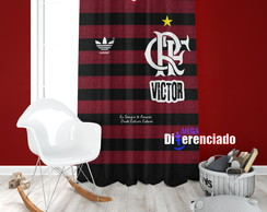 Cortina Uniforme do Flamengo com Nome - 1,20m x 1,80m