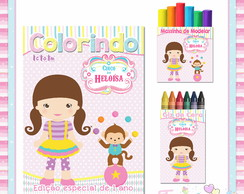 Kit Colorir com Massinha Circo Rosa