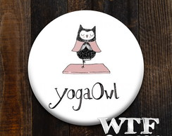 Botton ou Ímã Yoga Owl