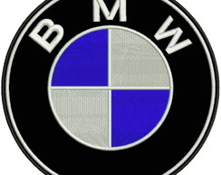Kit 3 Patch Bordado Termoc. Logo Bmw 7x7cm Carro Moto