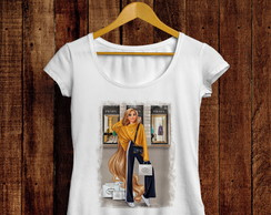 Camiseta t-shirt feminina Rapunzel fashion