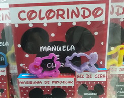 kit de colorir + massinha Mickey e Minie