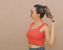 Cropped Tricotei - Coral