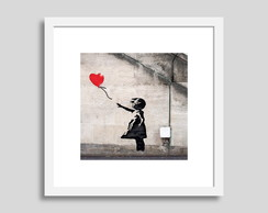 Quadro Decorativo Banksy Girl with balloon Sala Mais Barato