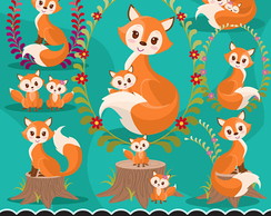 Kit Scrapbook baby fox