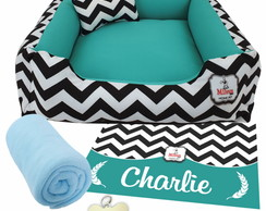 Kit 5 pçs Personalizado Cama Pet 60x60 - CHEVRON CANCÚN