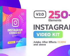 250 Instagram Stories Templates after effects Animados