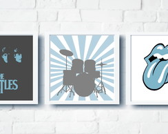 Quadros Menino Decor Rock'N Roll