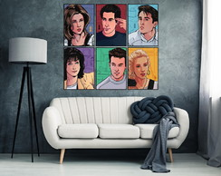 6 Quadros Decorativos Friends Sitcom Serie de TV 84x90cm