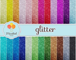 Papel Digital - Glitter (brilhante) II