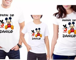 KIT 3 Camisetas Personalizadas Mickey