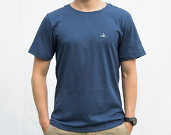 Camiseta Bordada Azul