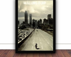 Quadro Com Moldura - The Walking Dead - 33x24cm - D411