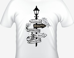 Camiseta Quotes Narnia Wonderland Hogwarts